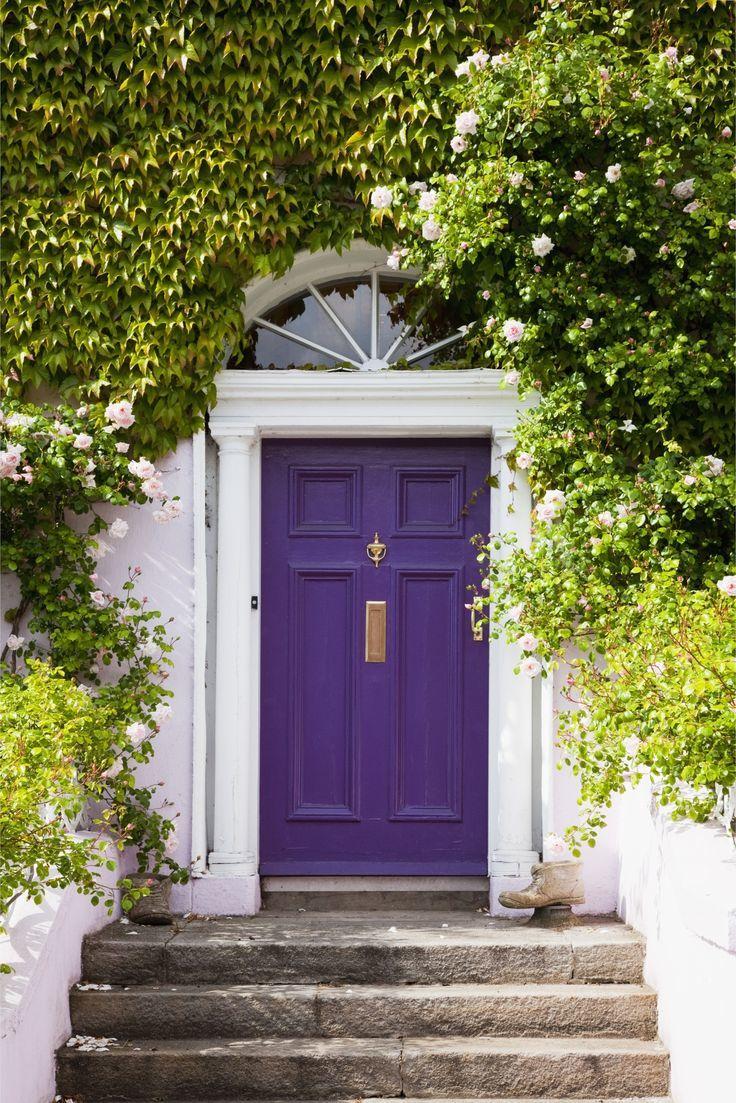 content violet door
